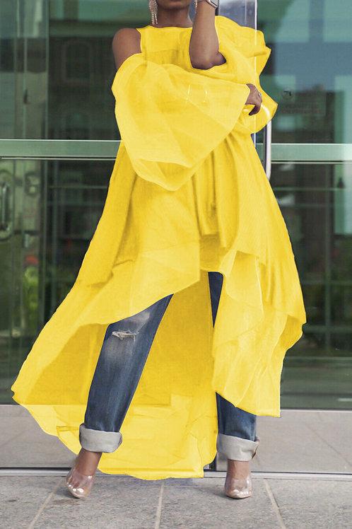 Asymmetrical Open Dress