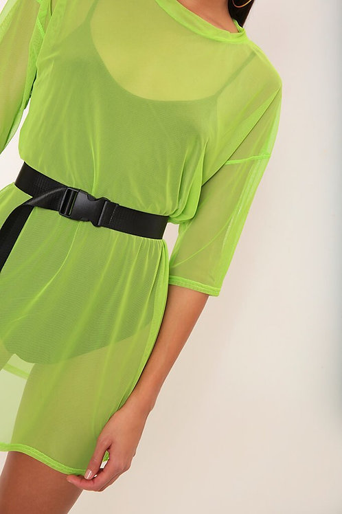 Lime T-Shirt Dress