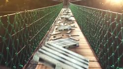 Wooden Bridge Projection