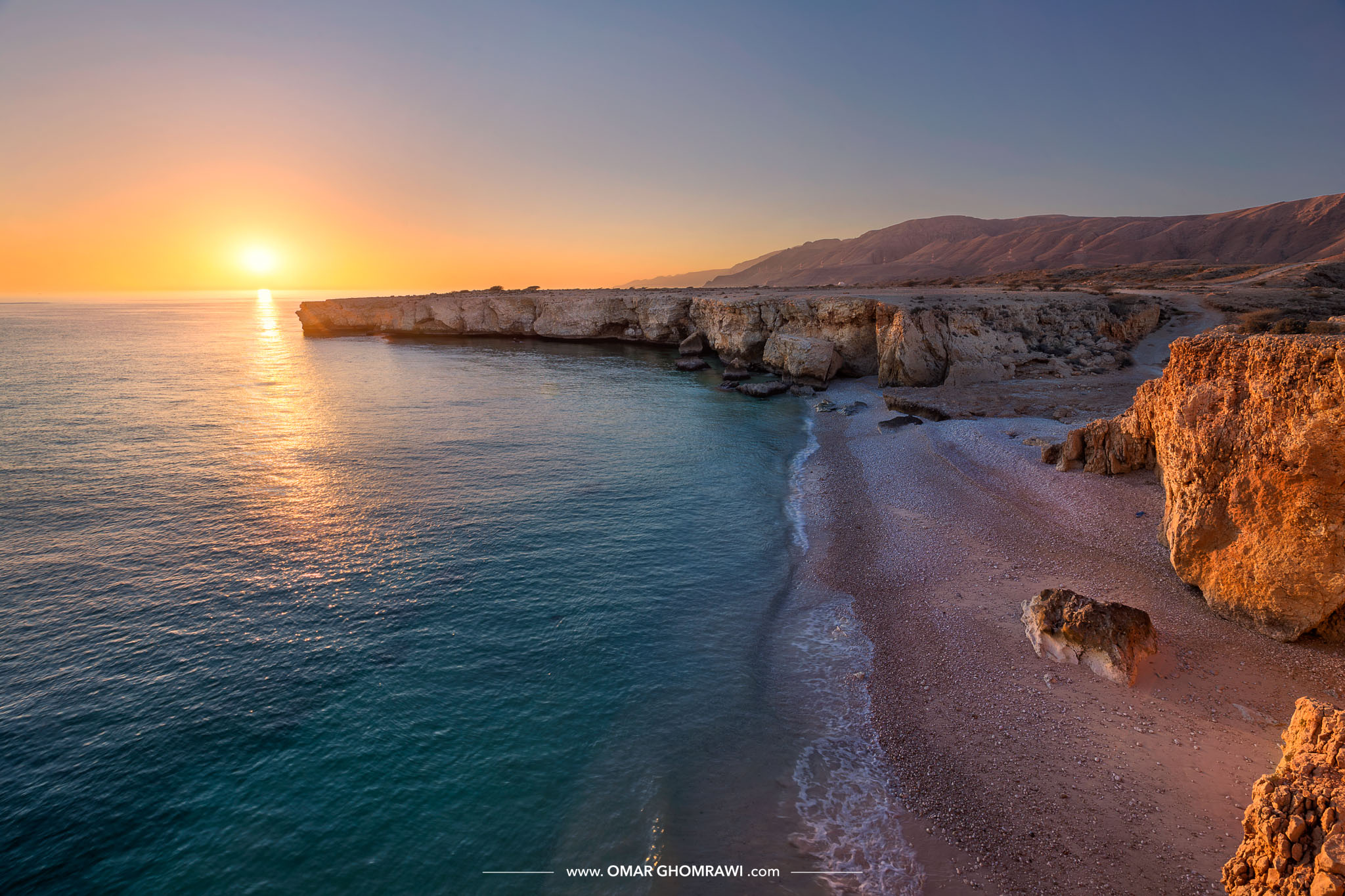 Wadi Shab Coast Sunrise 7700