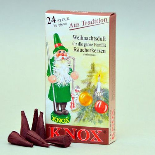 "#013-170 - Famous KNOX Brand ""Christmas Smell"" Incense Cones - Box of 24"