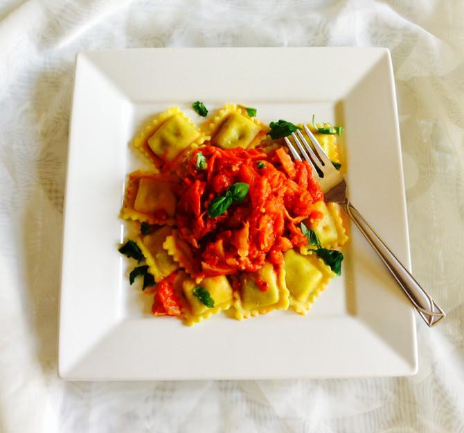 Semi-Homemade Pasta Sauce & Ravioli