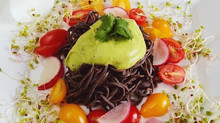 Black Bean Noodles with Creamy Avocado Sauce