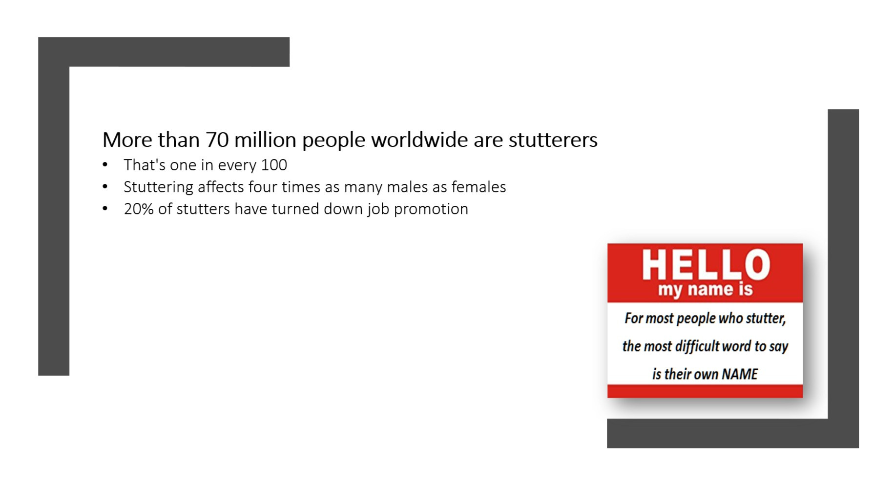 70 Million People Stutter