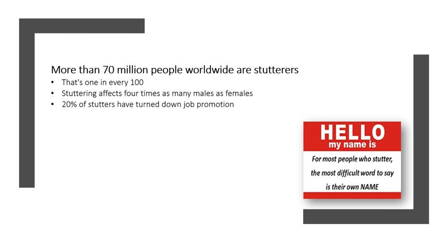 70 Million People Stutter
