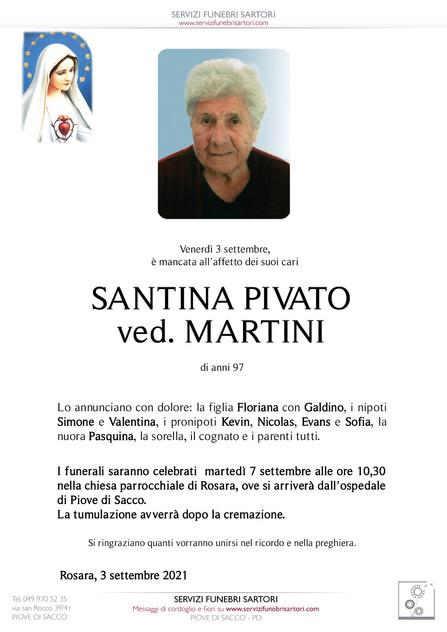 Santina Pivato Martini