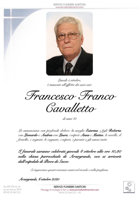 Cavalletto Francesco Franco
