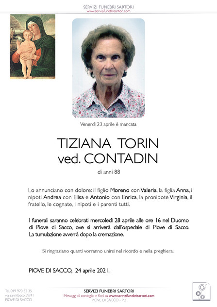 Torin Tiziana ved. Contadin