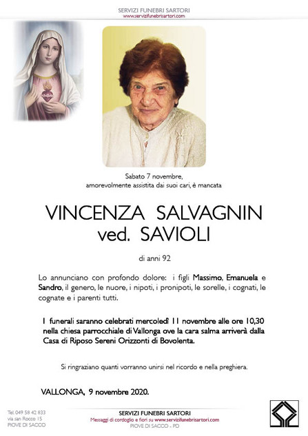 Salvagnin Vincenza Savioli