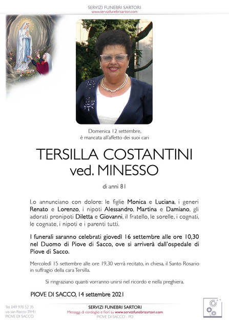 Costantini Tersilla ved. Minesso