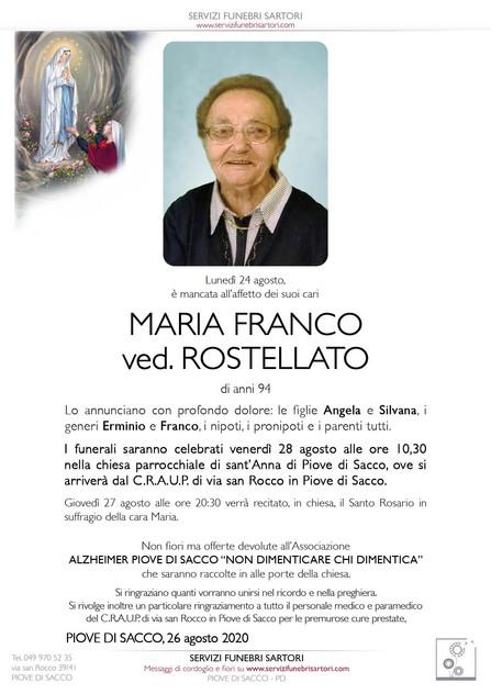 Franco Maria ved. Rostellato