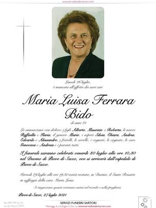 Maria Luisa Ferrara Bido