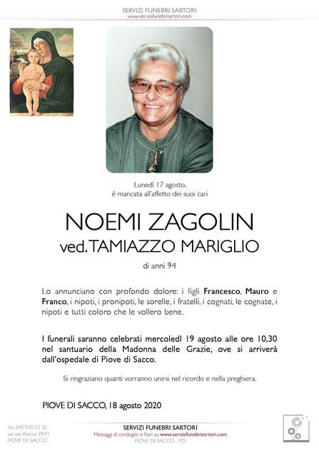 Zagolin Noemi ved. Tamiazzo Mariglio