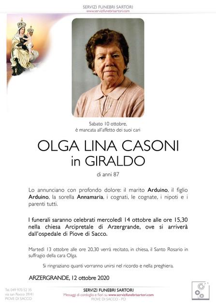Casoni Olga Lina in Giraldo