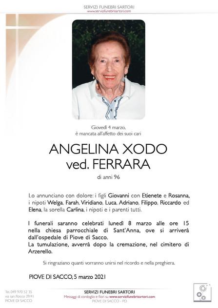 Xodo Angelina ved. Ferrara