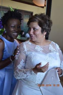 Raquel and Our Beautiful Bride