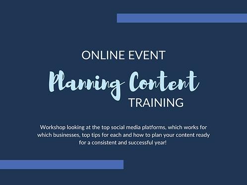 Content Planning Training