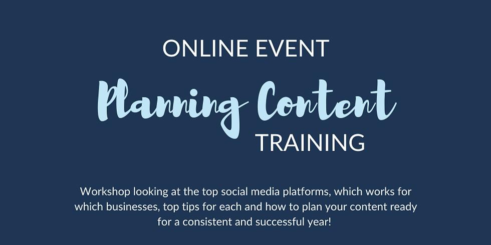 Planning Content Training