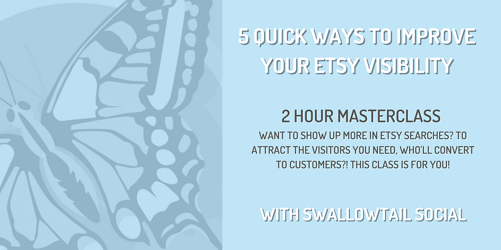 5 Quick Ways to Improve Your Etsy Visibility