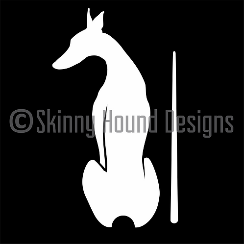 """Happy Tails"" Greyhound Wiper Decal - NEW Design!"