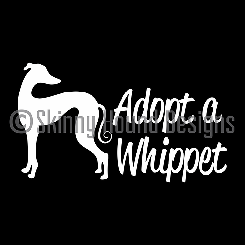 """Adopt a Whippet"" Decal"