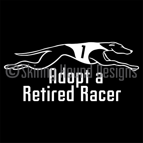 """Adopt a Retired Racer"" Decal"