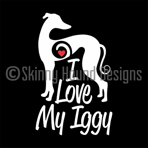 """I Love My Iggy"" Decal"