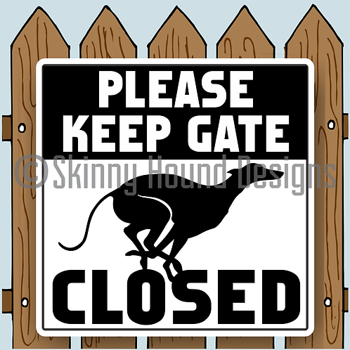 "12"" x 12"" Metal Sign ""Please Keep Gate Closed"""