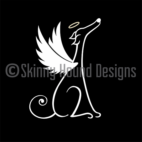 Greyhound Angel Decal