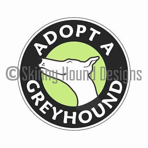 """Adopt a Greyhound"" Printed Vinyl Decal"