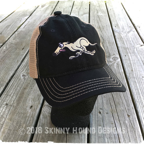 Embroidered Running Greyhound Baseball Cap