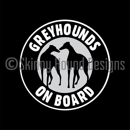 """Greyhounds on Board"" Magnet"