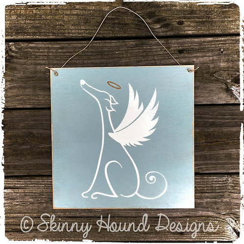 Greyhound Angel Handmade Wood Sign