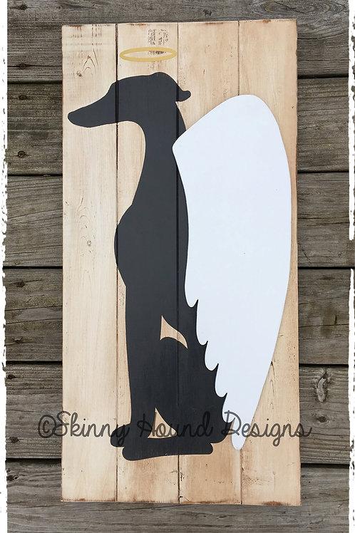 Greyhound Angel Wood Sign