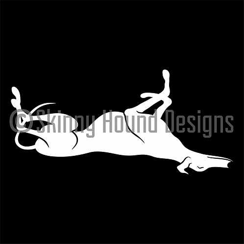 Whimsical Roaching Greyhound Decal