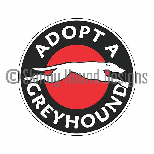 """Adopt a Greyhound"" Printed Vinyl Decal"