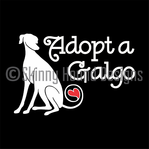 """Adopt a Galgo"" Decal"