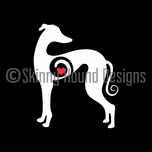 Iggy/Whippet Decal