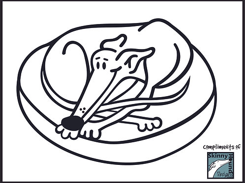Greyhound Coloring Page #5