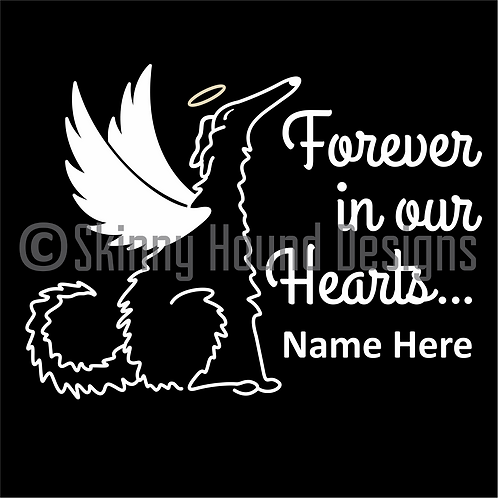 "Borzoi Angel Decal ""Forever in Our Hearts""- Add Name(s)"
