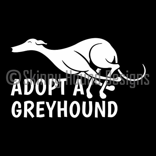 """Adopt a Greyhound"" Decal"
