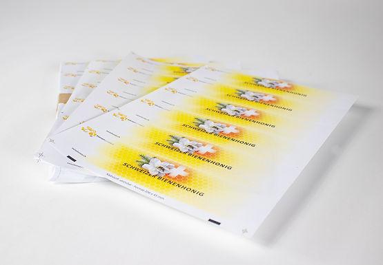 20 Bogen Honigglas-Etiketten A4