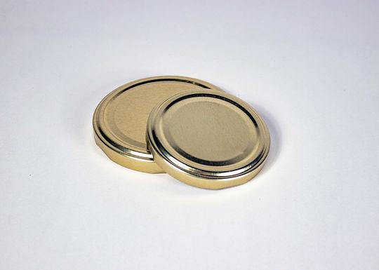 Honigglas Deckel Gold