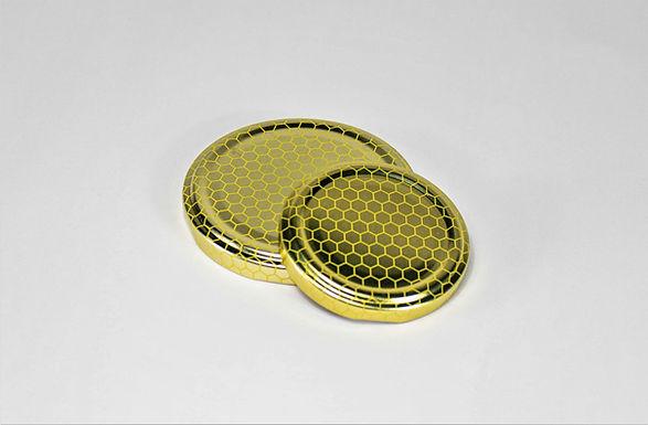 Honigglas Deckel Wabe