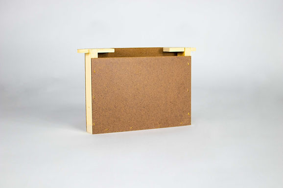 Mini Plus Futtertasche Holz einfache Wabenbreite