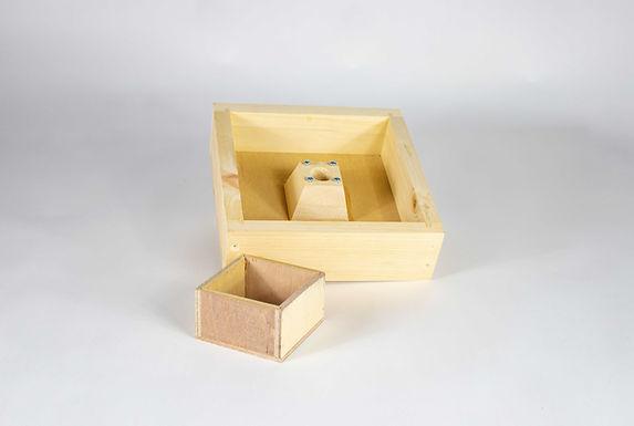 Mini Plus Futterzarge Holz