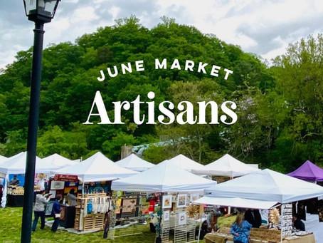 June Artisan Market Vendors Announced!