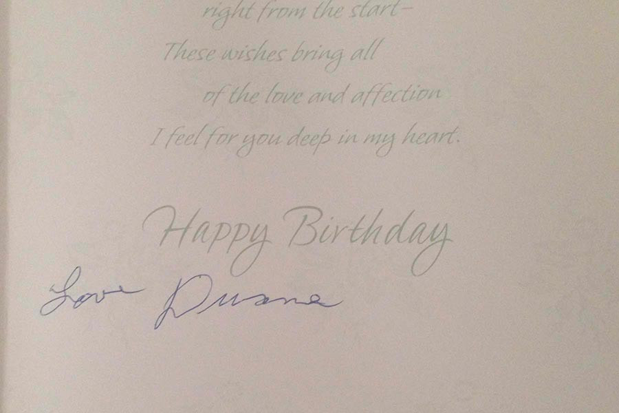 Original Birthday Card with Handwriting