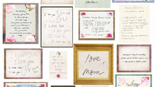 A collage of treasured handwriting