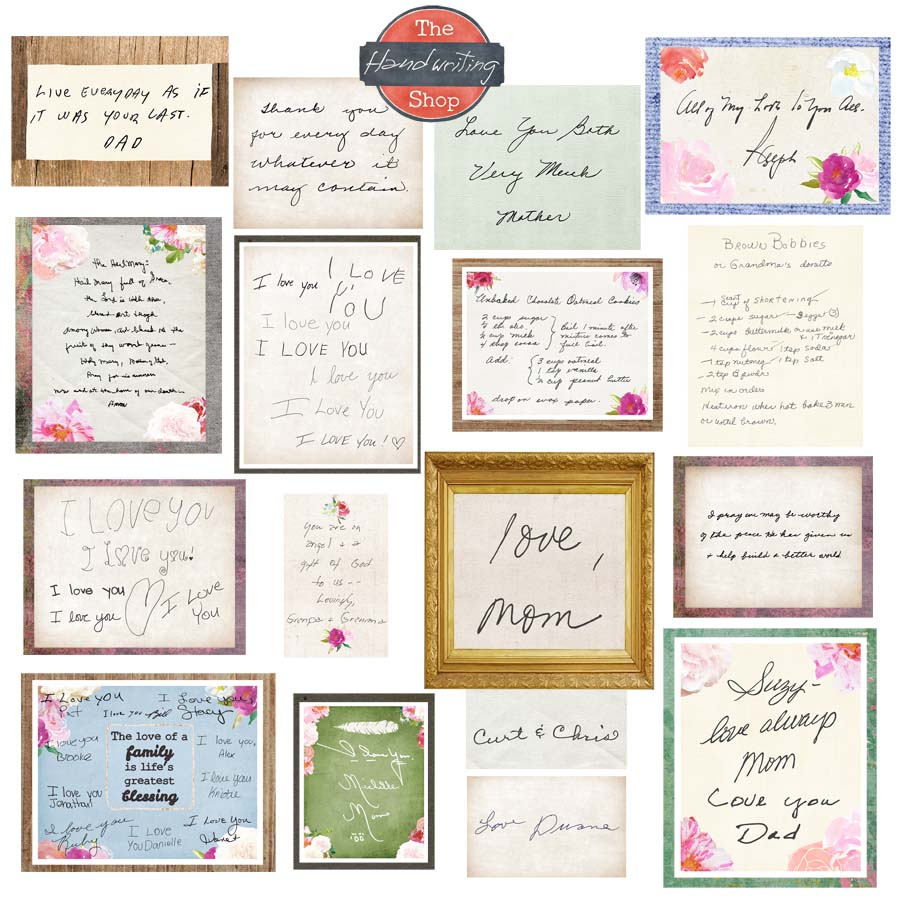Handwriting collage